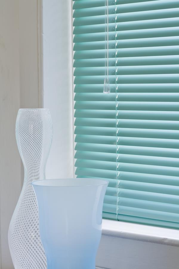Powder Green Venetian Blinds