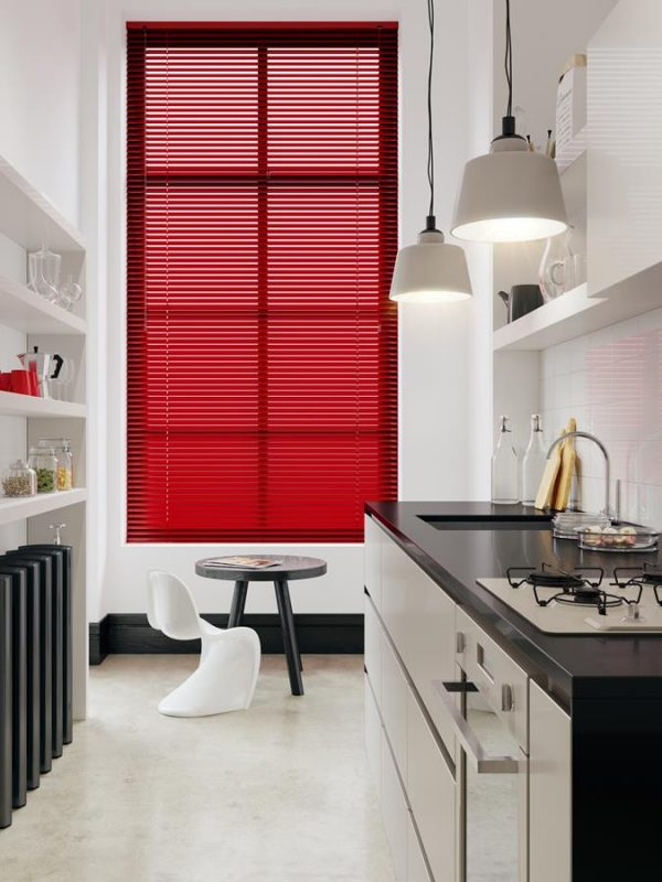 Primary Red Venitian Blinds